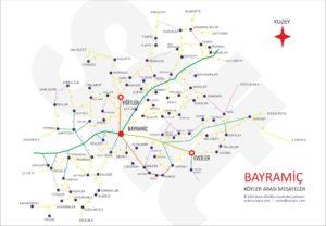bayramiç, köyle, harita, bayramiç köyler mesafe, mesafe, çanakkale,