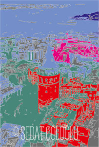 Galata, kule, istanbul, vektör, postmodern,