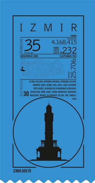 izmir, infografik, ticket,