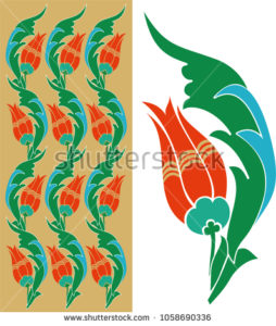 stock-vector-tulip-motifed-table-frame-pattern-piece-1058690336