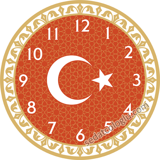 ClockFlag_01 TURKIYE
