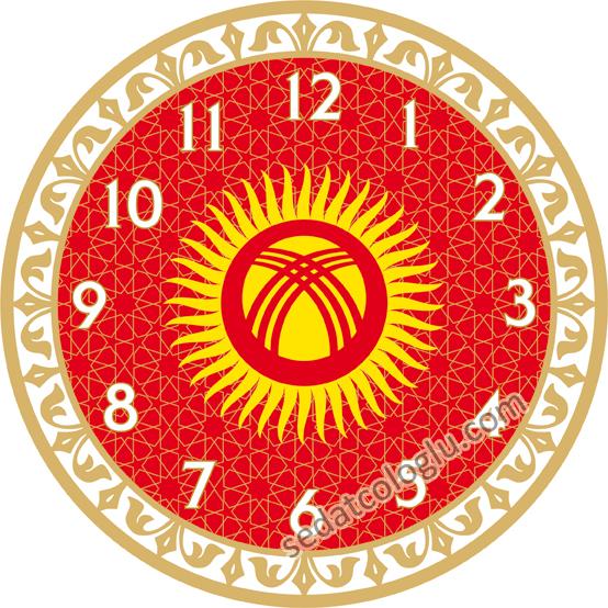 ClockFlag_03 KIRGIZISTAN