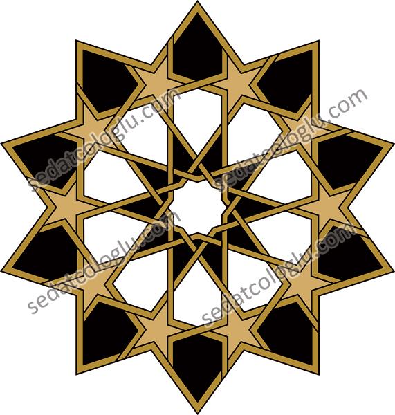 Motifgeo_108_hexagonal10stars
