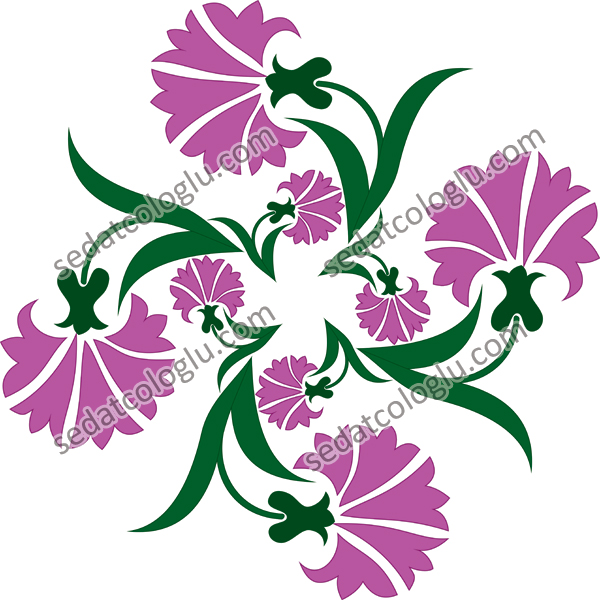 Motifgeo_130_Carnations