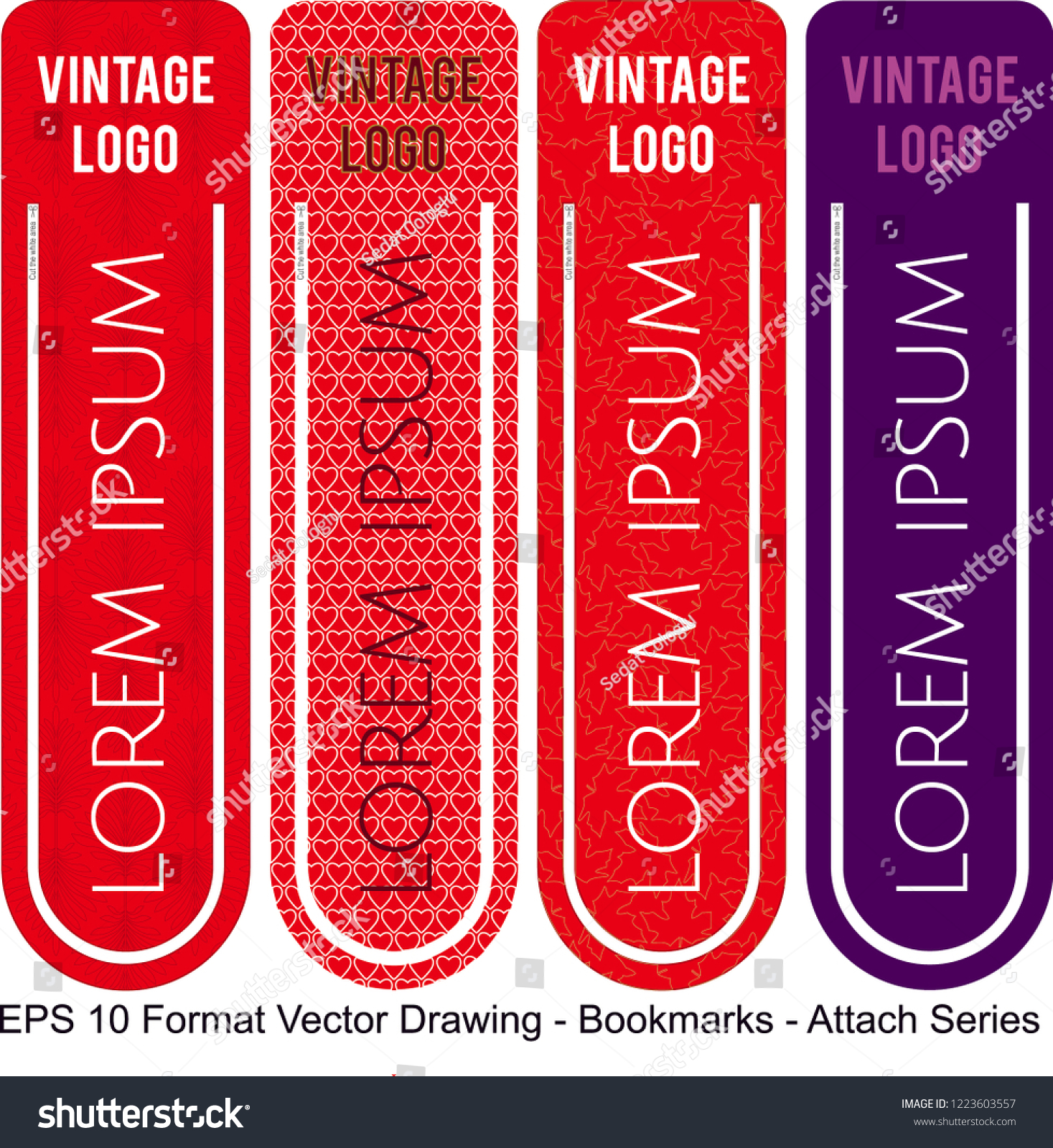 stock-vector-vector-set-of-ornate-vertical-bookmark-cards-in-attach-style-it-can-be-used-as-wall-board-banner-1223603557