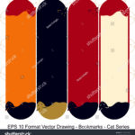 stock-vector-vector-set-of-ornate-vertical-bookmark-cards-in-cat-style-it-can-be-used-as-wall-board-banner-1221953383