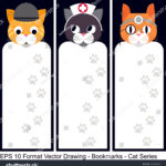 stock-vector-vector-set-of-ornate-vertical-bookmark-cards-in-cat-style-it-can-be-used-as-wall-board-banner-1243670299