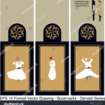 stock-vector-vector-set-of-ornate-vertical-bookmark-cards-in-dervish-style-it-can-be-used-as-wall-board-banner-1231069018