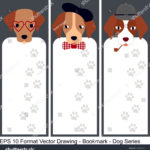 stock-vector-vector-set-of-ornate-vertical-bookmark-cards-in-dog-style-it-can-be-used-as-wall-board-banner-1243670578