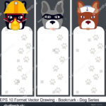 stock-vector-vector-set-of-ornate-vertical-bookmark-cards-in-dog-style-it-can-be-used-as-wall-board-banner-1243670587