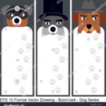 stock-vector-vector-set-of-ornate-vertical-bookmark-cards-in-dog-style-it-can-be-used-as-wall-board-banner-1243670590