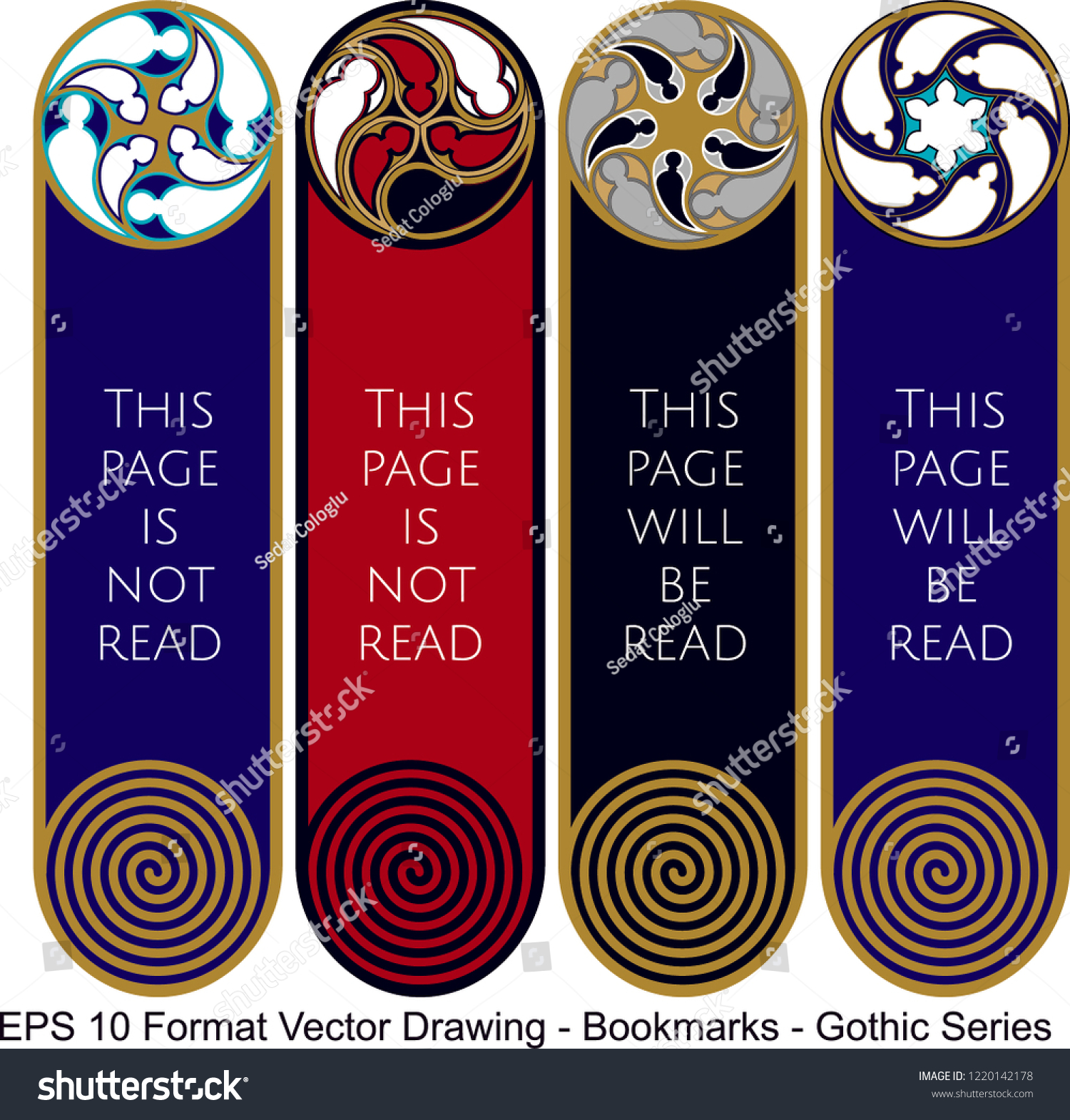 stock-vector-vector-set-of-ornate-vertical-bookmark-cards-in-gothic-style-it-can-be-used-as-wall-board-banner-1220142178