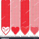 stock-vector-vector-set-of-ornate-vertical-bookmark-cards-in-heart-style-it-can-be-used-as-wall-board-banner-1220142136