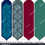 stock-vector-vector-set-of-ornate-vertical-bookmark-cards-in-leaf-style-it-can-be-used-as-wall-board-banner-1220142148