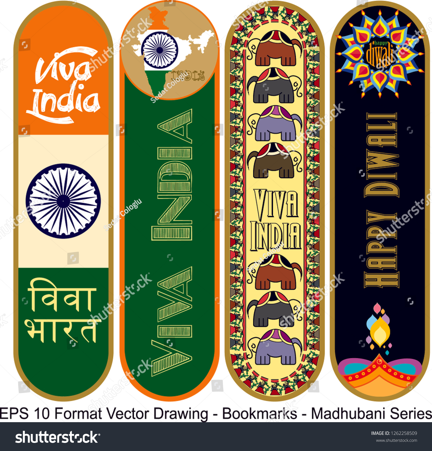 stock-vector-vector-set-of-ornate-vertical-bookmark-cards-in-madhubani-style-vector-drawing-it-can-be-used-as-1262258509