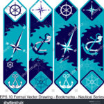 stock-vector-vector-set-of-ornate-vertical-bookmark-cards-in-nautical-style-it-can-be-used-as-wall-board-1220142142