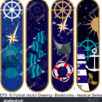 stock-vector-vector-set-of-ornate-vertical-bookmark-cards-in-nautical-style-it-can-be-used-as-wall-board-1223599567