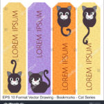 stock-vector-vector-set-of-ornate-vertical-bookmark-cards-in-oriental-cat-style-it-can-be-used-as-wall-board-1223598826