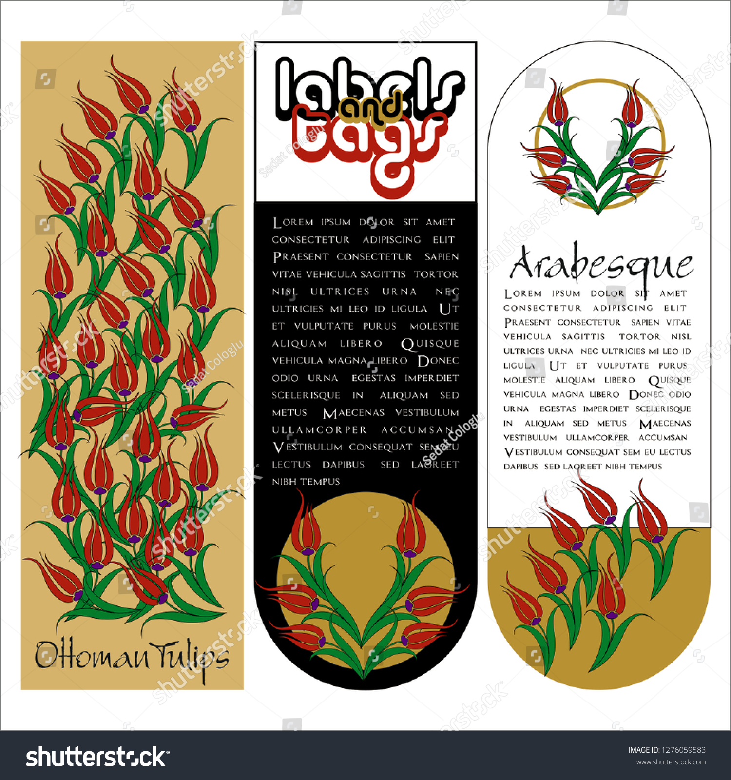 stock-vector-vector-set-of-ornate-vertical-bookmark-cards-in-tulip-flower-style-it-can-be-used-as-wall-board-1276059583