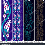 stock-vector-vector-set-of-ornate-vertical-bookmark-cards-in-tulip-style-it-can-be-used-as-wall-board-banner-1220142214