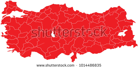 vector, Turkey, provinces, map, iller, harita, türkiye, vektör