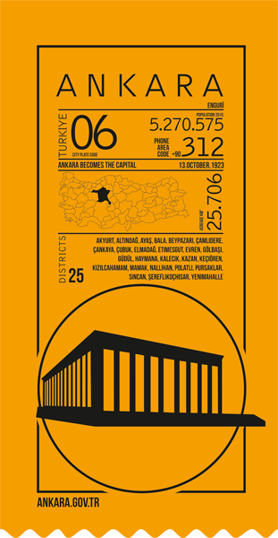 infografik, ankara, ticket, yellow,