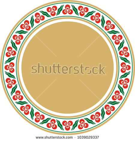 geometric, ottoman, osmanlı, çerçeve, frame, motif, daire, tabak, çini, desen, kütahya,