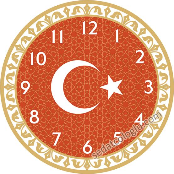 ClockFlag_01 TURKIYE