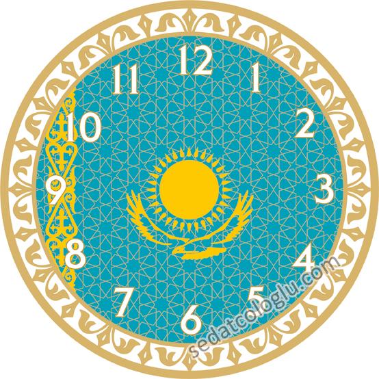 ClockFlag_02 KAZAKISTAN