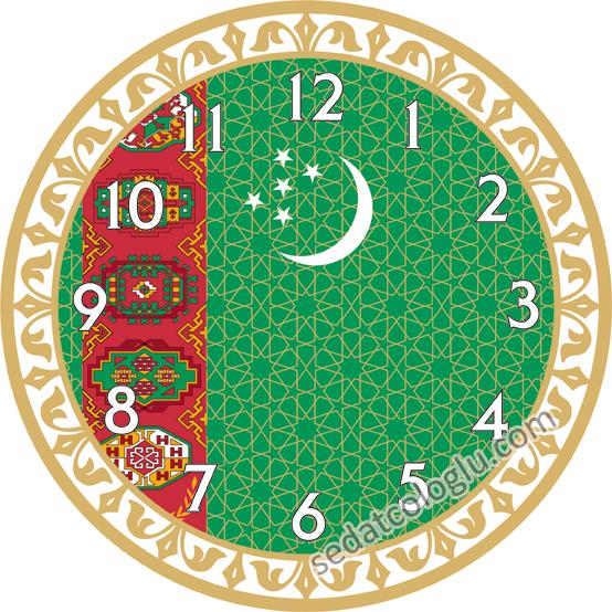 ClockFlag_04 TURKMENISTAN