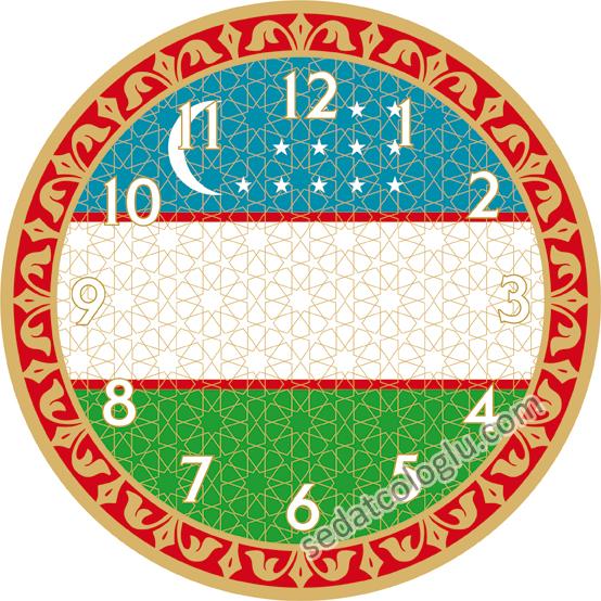 ClockFlag_05 OZBEKISTAN