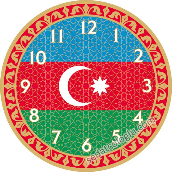 ClockFlag_06 AZERBAYCAN
