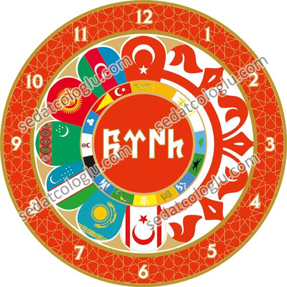 ClockFlag_08 TURKISH STATES