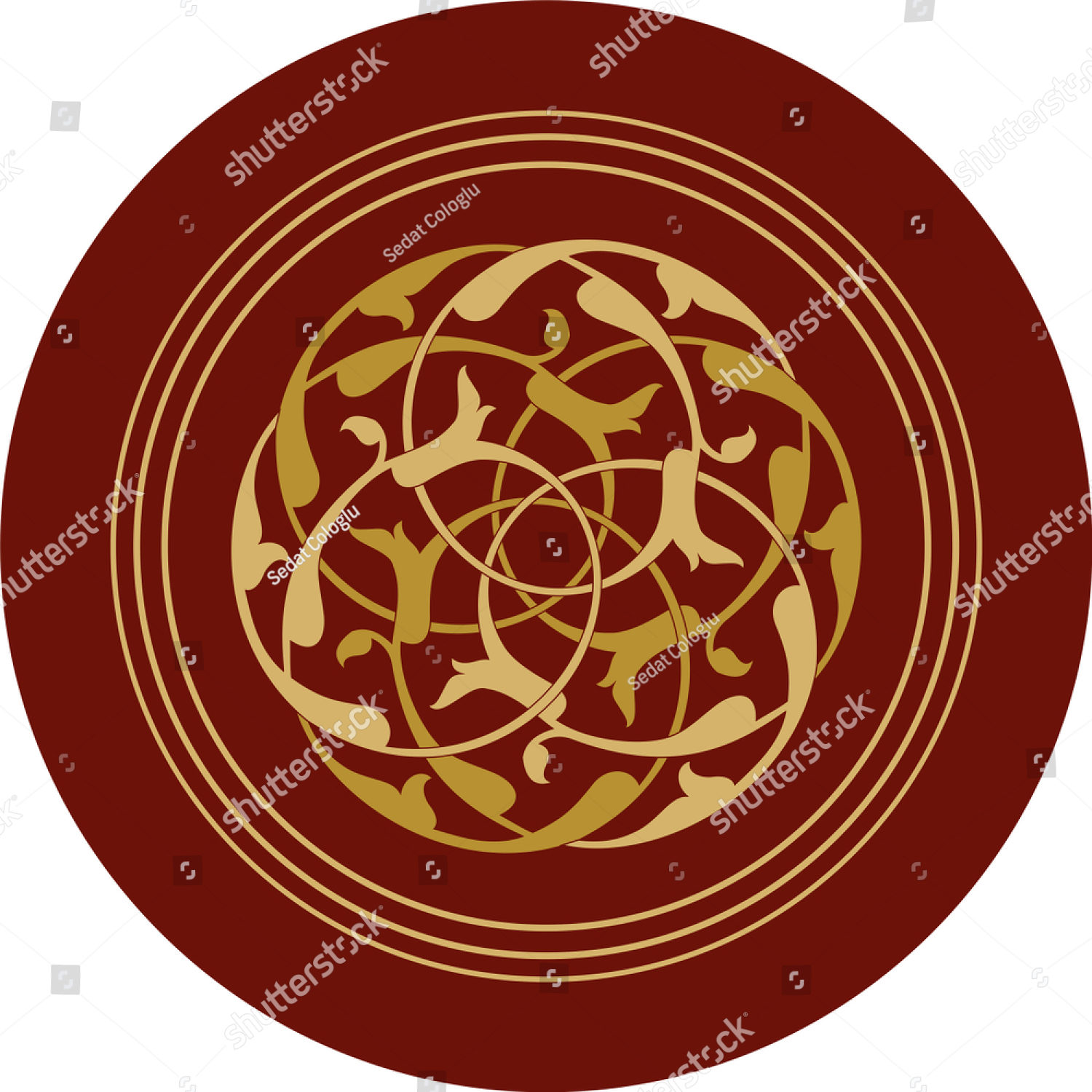 stock-vector-rumi-roses-vector-drawing-for-decoration-it-is-used-as-wall-decoration-icon-avatar-wall-plate-1255771000