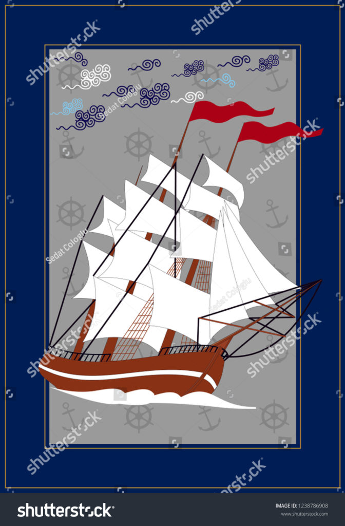 stock-vector-sail-ship-vector-drawing-related-to-maritime-the-wall-table-can-be-used-as-ornament-label-gift-1238786908