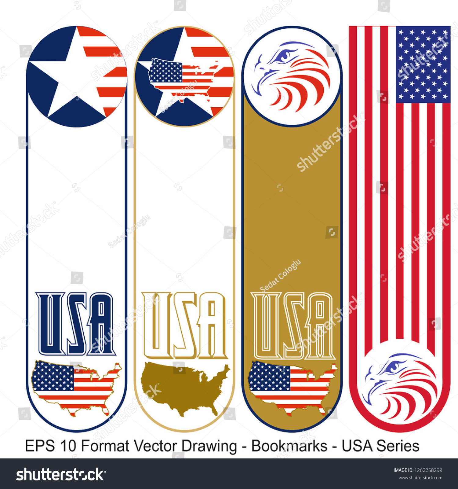 stock-vector-vector-set-of-ornate-vertical-bookmark-cards-in-usa-flag-style-it-can-be-used-as-wall-board-1262258299