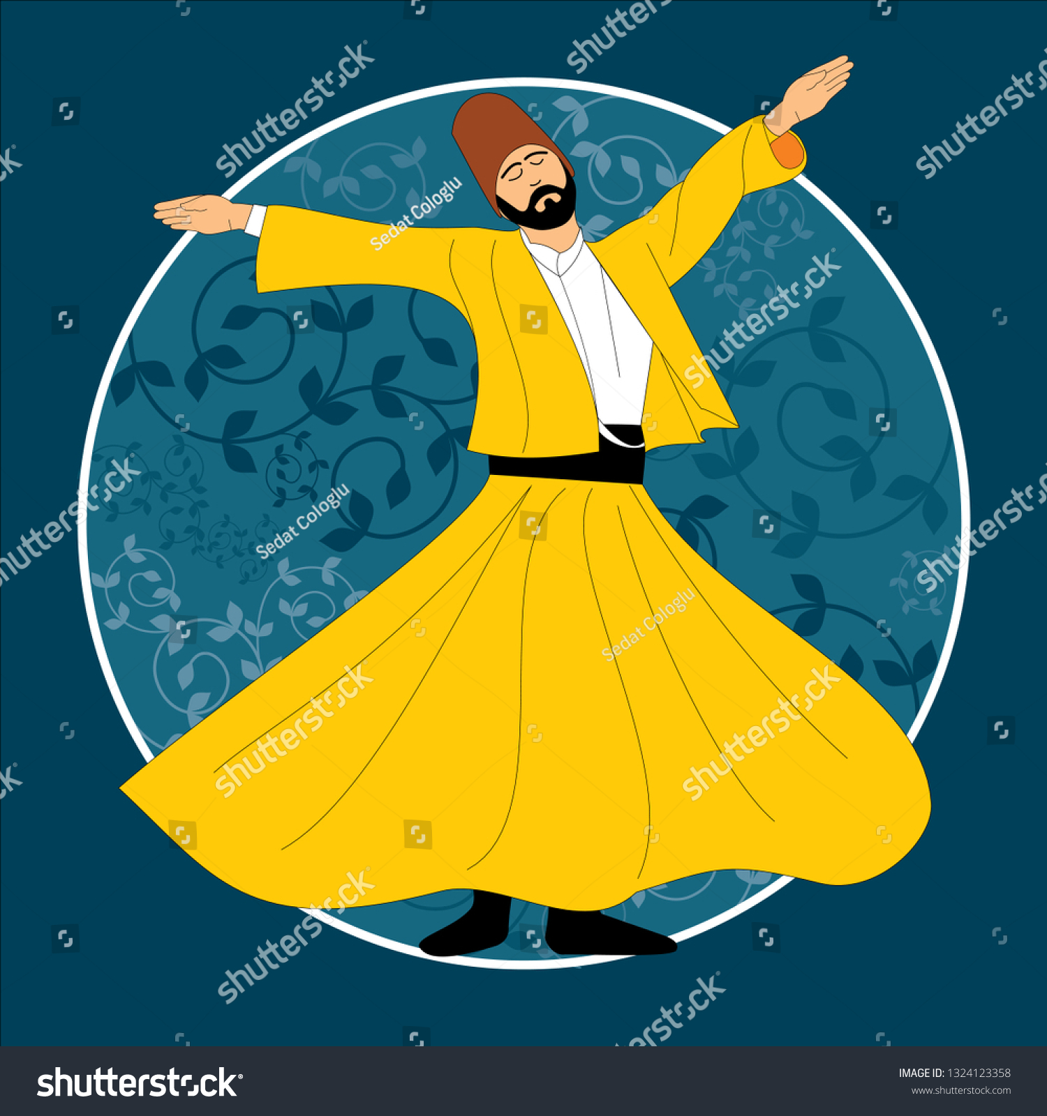 stock-vector-dervish-symbolic-study-of-mevlevi-mystical-dance-this-painting-represents-a-movement-of-this-1324123358