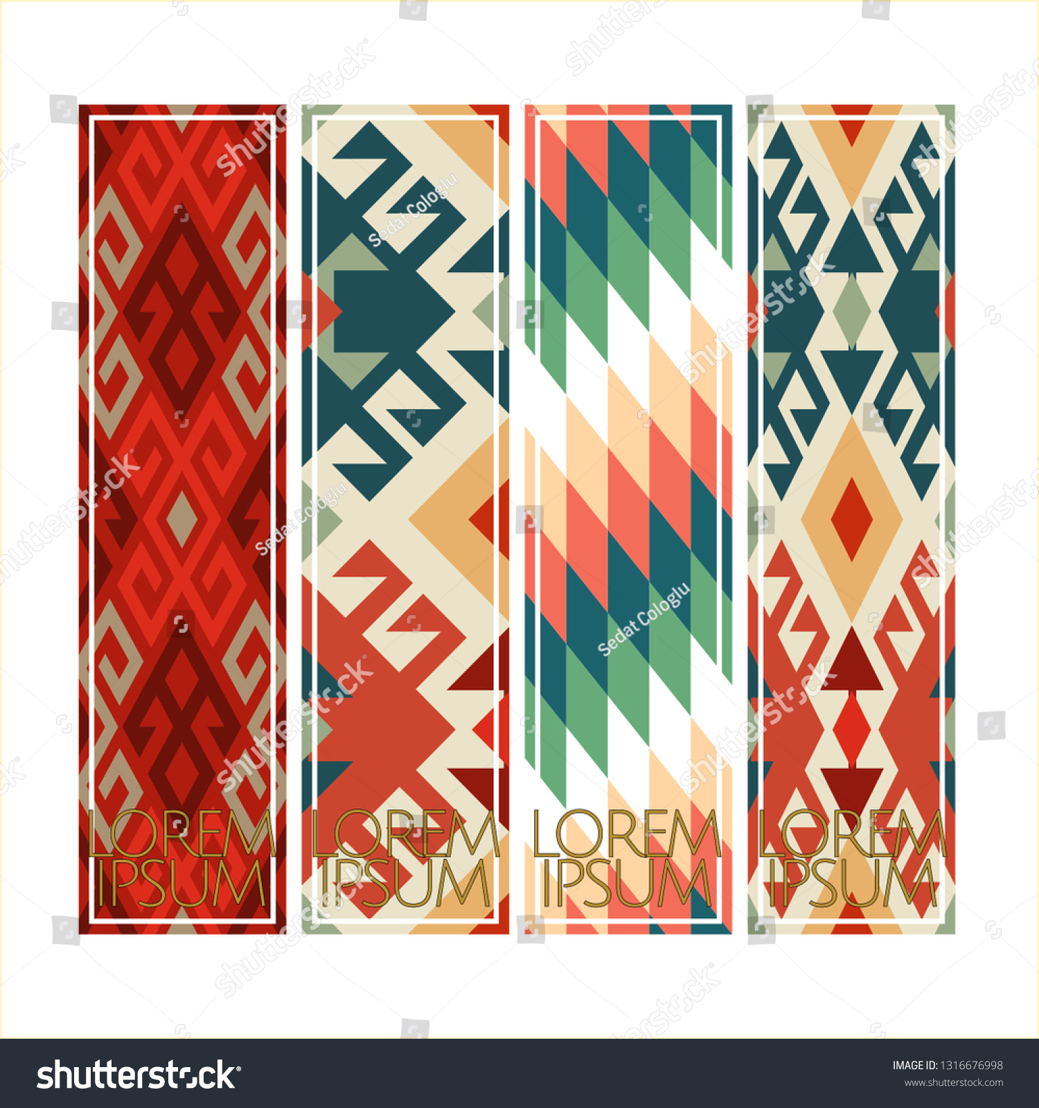 stock-vector-vector-set-of-ornate-vertical-bookmark-cards-in-oriental-turkish-rug-style-it-can-be-used-as-wall-1316676998